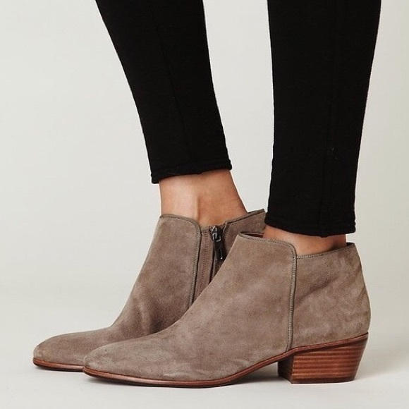 94e48590f Sam Edelman taupe suede petty ankle booties. M 5b74c70b34e48a62bb3ed160